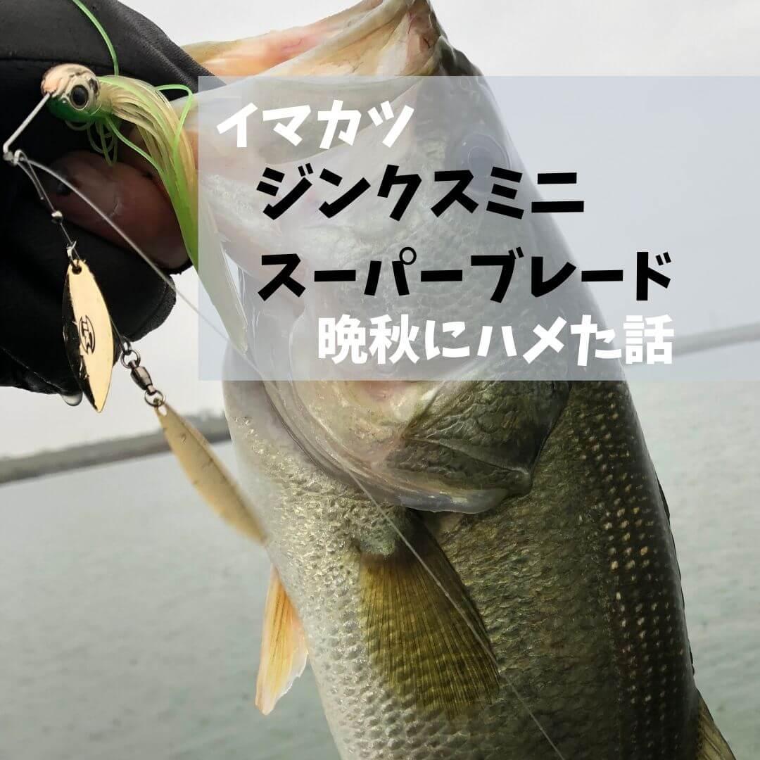 【晩秋】イマカツ ジンクスミニ スーパーブレードでハメた話
